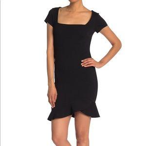 Vanity Room Square Neck Cap Sleeve Sheath Dress M